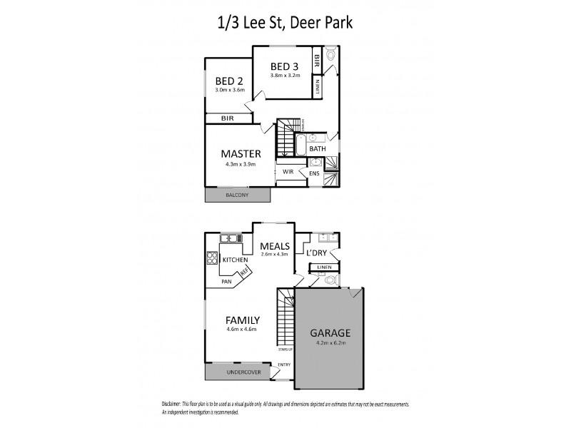 1/3 Lee Street, Deer Park VIC 3023 Floorplan