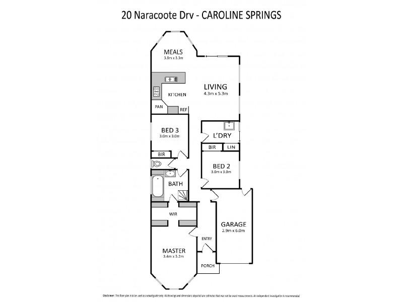 20 Naracoorte Drive, Caroline Springs VIC 3023 Floorplan