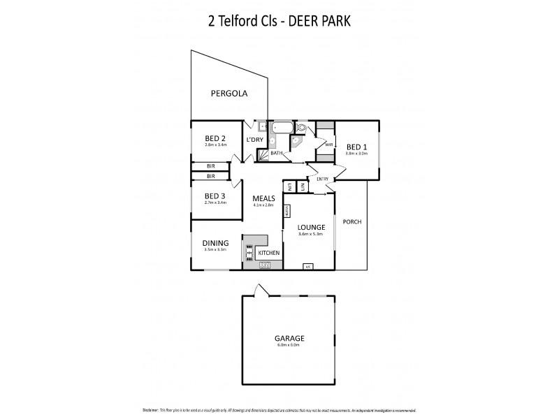 2 Telford Close, Deer Park VIC 3023 Floorplan