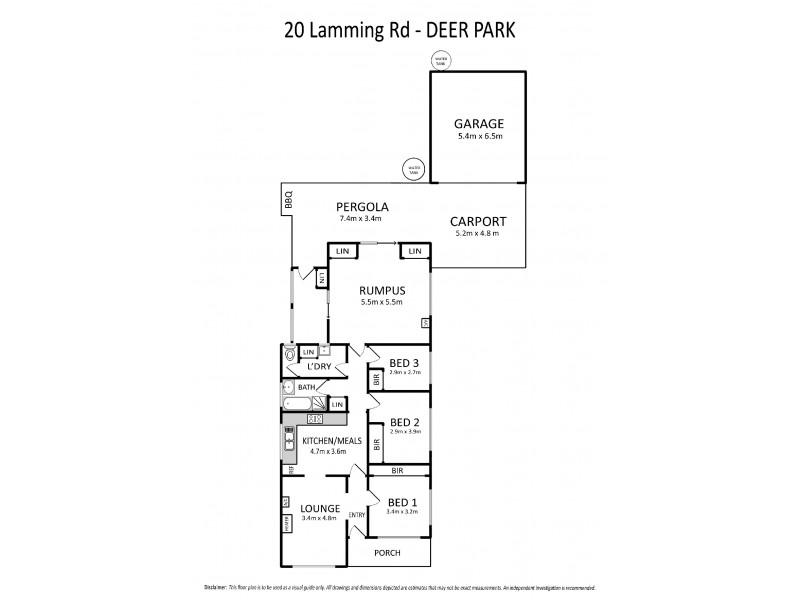 20 Laming Road, Deer Park VIC 3023 Floorplan