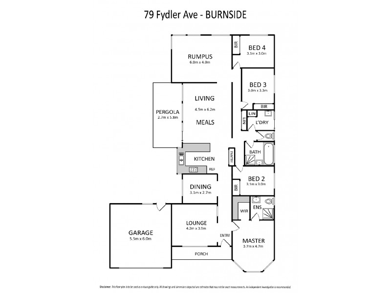 79 Fydler Avenue, Burnside VIC 3023 Floorplan