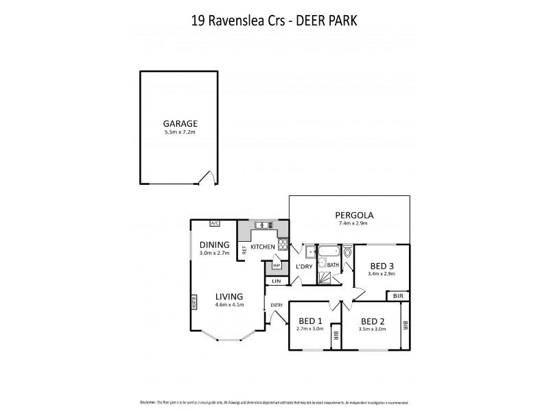 19 Ravenslea Crescent, Deer Park VIC 3023 Floorplan