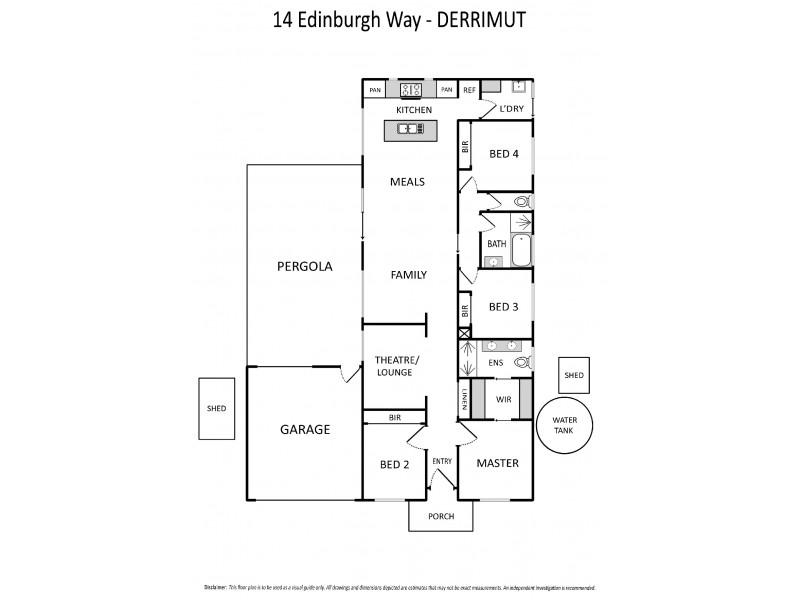 14 Edinburgh Way, Derrimut VIC 3030 Floorplan
