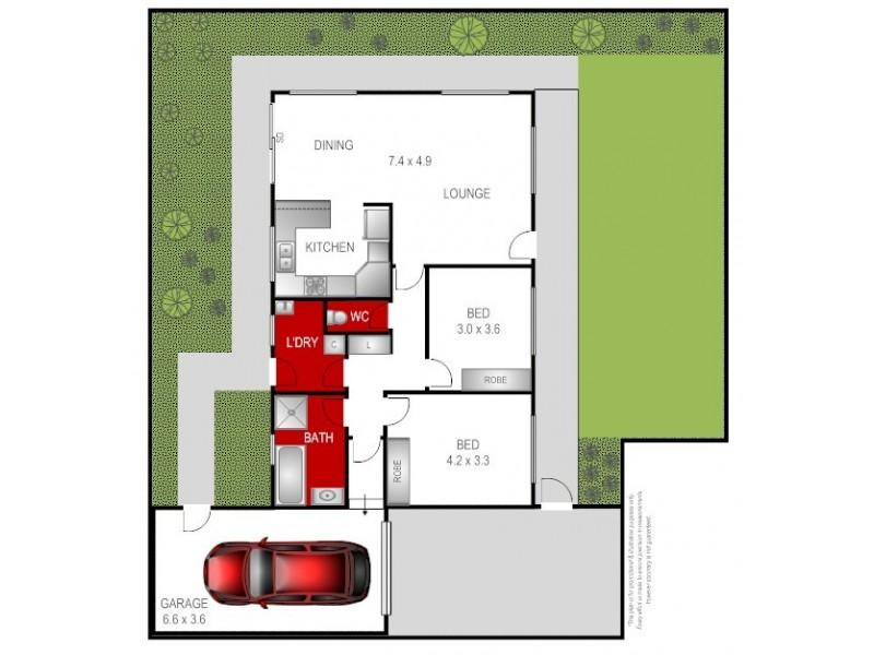 2/14 Milton Street, Bannockburn VIC 3331 Floorplan