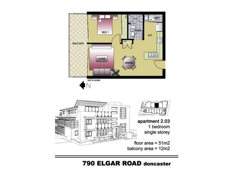 1-17/790 Elgar Road, Doncaster VIC 3108 Floorplan