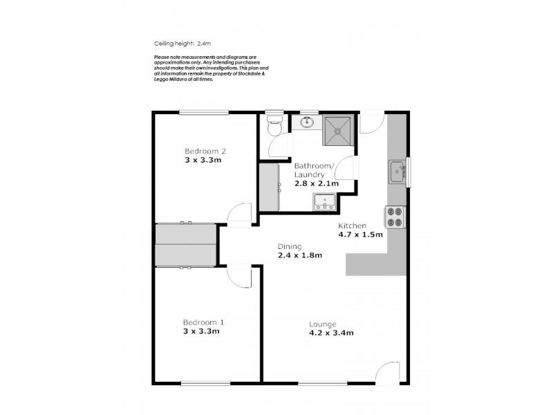 3/399 San Mateo Avenue, Mildura VIC 3500 Floorplan