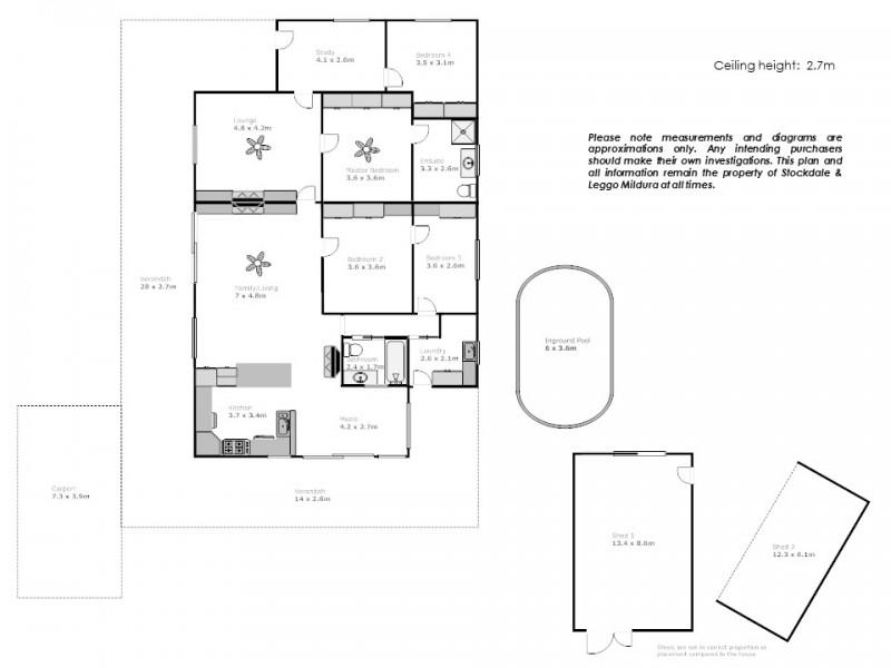 188 Dow Avenue, Cabarita VIC 3505 Floorplan