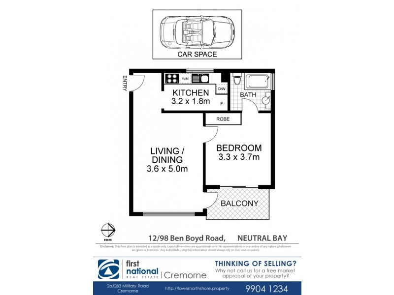 12/98 Ben Boyd Road, Neutral Bay NSW 2089 Floorplan