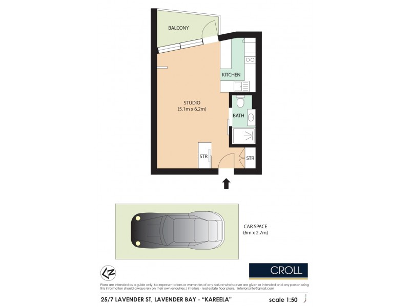 25/7 Lavender Street, Mcmahons Point NSW 2060 Floorplan