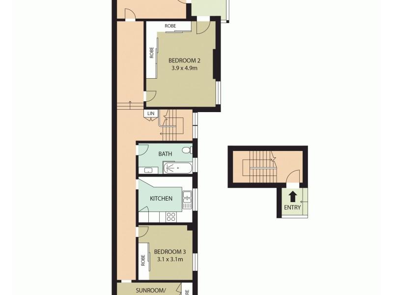 3/18 Lower Wycombe Rd, Neutral Bay NSW 2089 Floorplan
